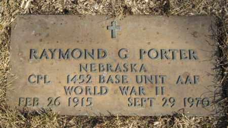PORTER, RAYMOND G. - Dodge County, Nebraska | RAYMOND G. PORTER - Nebraska Gravestone Photos