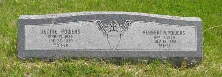 POWERS, JENNIE - Dodge County, Nebraska | JENNIE POWERS - Nebraska Gravestone Photos