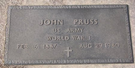 PRUSS, JOHN (MILITARY) - Dodge County, Nebraska | JOHN (MILITARY) PRUSS - Nebraska Gravestone Photos