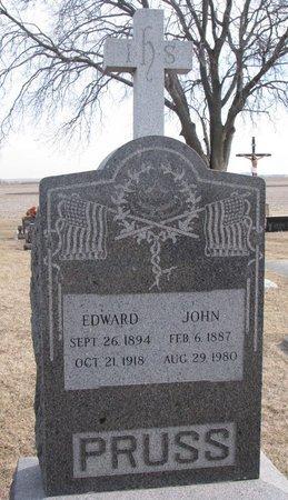 PRUSS, EDWARD - Dodge County, Nebraska   EDWARD PRUSS - Nebraska Gravestone Photos