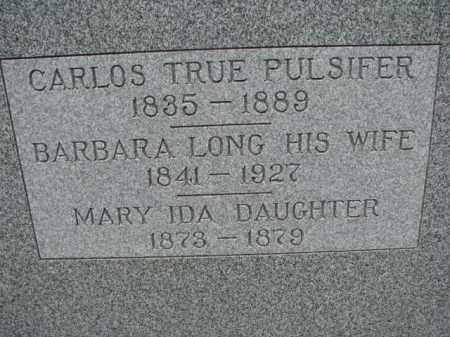 PULSIFER, CARLOS TRUE - Dodge County, Nebraska   CARLOS TRUE PULSIFER - Nebraska Gravestone Photos