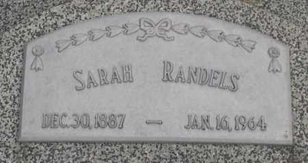 RANDELS, SARAH (CLOSE UP) - Dodge County, Nebraska | SARAH (CLOSE UP) RANDELS - Nebraska Gravestone Photos