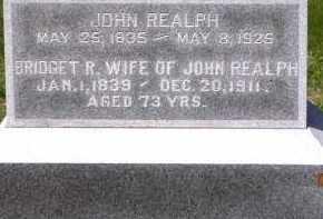 REALH, JOHN - Dodge County, Nebraska | JOHN REALH - Nebraska Gravestone Photos