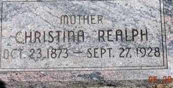 LARSON REALPH, CHRISTINA - Dodge County, Nebraska | CHRISTINA LARSON REALPH - Nebraska Gravestone Photos
