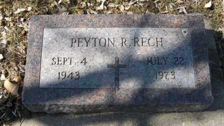 RECH, PEYTON R. - Dodge County, Nebraska | PEYTON R. RECH - Nebraska Gravestone Photos