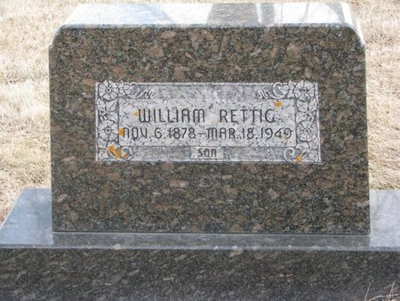 RETTIG, WILLIAM - Dodge County, Nebraska | WILLIAM RETTIG - Nebraska Gravestone Photos