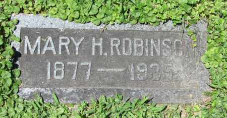 ROBINSON, MARY H. - Dodge County, Nebraska | MARY H. ROBINSON - Nebraska Gravestone Photos