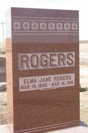 ROGERS, ELMA JANE - Dodge County, Nebraska | ELMA JANE ROGERS - Nebraska Gravestone Photos