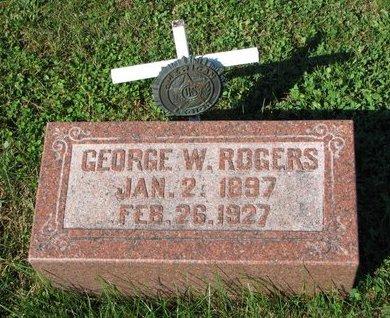 ROGERS, GEORGE W. - Dodge County, Nebraska   GEORGE W. ROGERS - Nebraska Gravestone Photos
