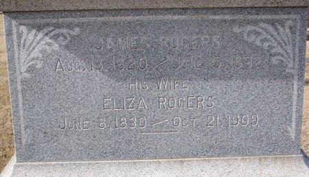 ROGERS, ELIZA (CLOSE UP) - Dodge County, Nebraska | ELIZA (CLOSE UP) ROGERS - Nebraska Gravestone Photos