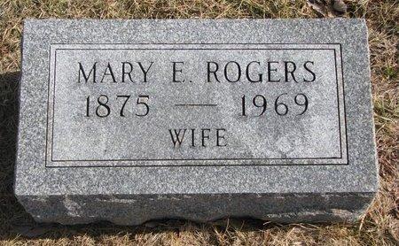 ROGERS, MARY E. - Dodge County, Nebraska   MARY E. ROGERS - Nebraska Gravestone Photos