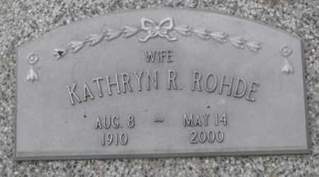 ROHDE, KATHRYN R. (CLOSE UP) - Dodge County, Nebraska   KATHRYN R. (CLOSE UP) ROHDE - Nebraska Gravestone Photos