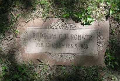 ROHWER, RUDOLPH C H - Dodge County, Nebraska | RUDOLPH C H ROHWER - Nebraska Gravestone Photos