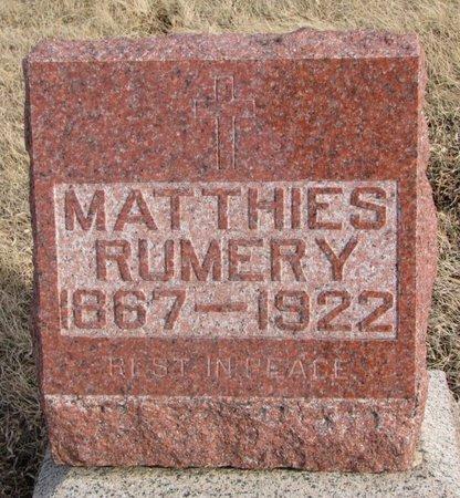 RUMERY, MATTHIES - Dodge County, Nebraska | MATTHIES RUMERY - Nebraska Gravestone Photos