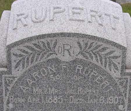 RUPERT, AARON - Dodge County, Nebraska | AARON RUPERT - Nebraska Gravestone Photos