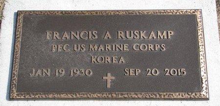 RUSKAMP, FRANCIS A. (MILITARY) - Dodge County, Nebraska | FRANCIS A. (MILITARY) RUSKAMP - Nebraska Gravestone Photos