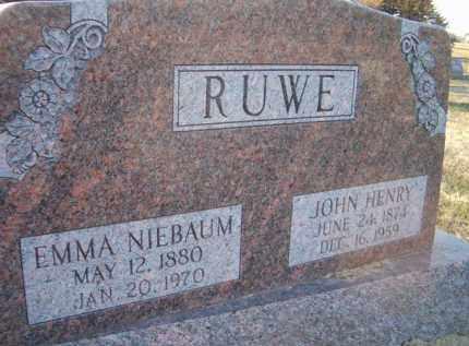 RUWE, JOHN HENRY - Dodge County, Nebraska | JOHN HENRY RUWE - Nebraska Gravestone Photos