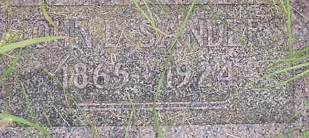 SANDERS, JOHN - Dodge County, Nebraska | JOHN SANDERS - Nebraska Gravestone Photos