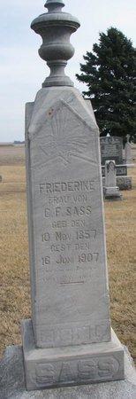 MOELLER SASS, FRIEDERIKE - Dodge County, Nebraska | FRIEDERIKE MOELLER SASS - Nebraska Gravestone Photos