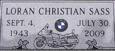 SASS, LORAN CHRISTIAN - Dodge County, Nebraska | LORAN CHRISTIAN SASS - Nebraska Gravestone Photos