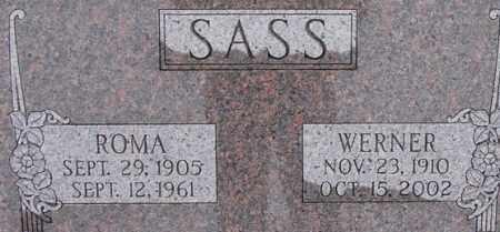 SASS, WERNER - Dodge County, Nebraska | WERNER SASS - Nebraska Gravestone Photos