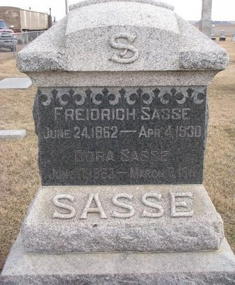 LEPTIEN SASSE, DOROTHEA P.M. - Dodge County, Nebraska | DOROTHEA P.M. LEPTIEN SASSE - Nebraska Gravestone Photos