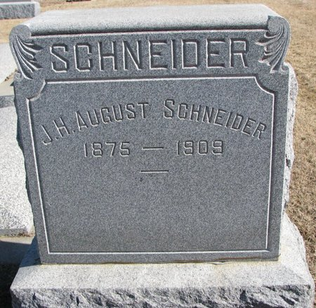 SCHNEIDER, J.H. AUGUST - Dodge County, Nebraska | J.H. AUGUST SCHNEIDER - Nebraska Gravestone Photos