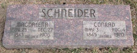 SCHNEIDER, CONRAD - Dodge County, Nebraska | CONRAD SCHNEIDER - Nebraska Gravestone Photos