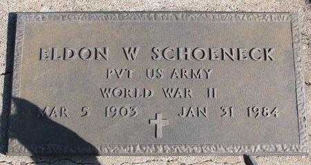 SCHOENECK, ELDON W. - Dodge County, Nebraska | ELDON W. SCHOENECK - Nebraska Gravestone Photos