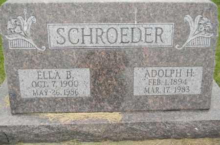 SCHROEDER, ELLA - Dodge County, Nebraska | ELLA SCHROEDER - Nebraska Gravestone Photos