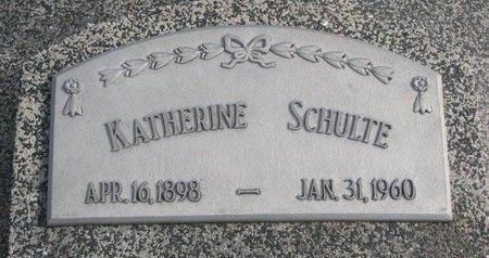 SCHULTE, KATHERINE - Dodge County, Nebraska | KATHERINE SCHULTE - Nebraska Gravestone Photos