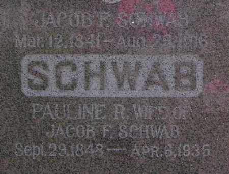 SCHWAB, JACOB F. - Dodge County, Nebraska | JACOB F. SCHWAB - Nebraska Gravestone Photos
