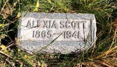 SCOTT, ALEXIA - Dodge County, Nebraska   ALEXIA SCOTT - Nebraska Gravestone Photos