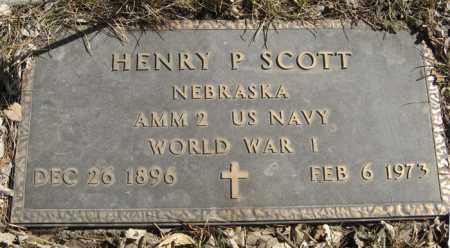 SCOTT, HENRY P. (MILITARY MARKER) - Dodge County, Nebraska | HENRY P. (MILITARY MARKER) SCOTT - Nebraska Gravestone Photos