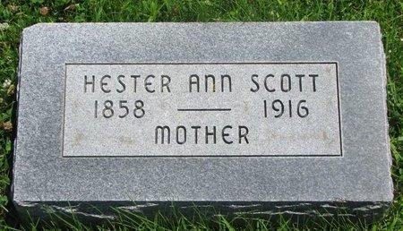 SCOTT, HESTER ANN - Dodge County, Nebraska | HESTER ANN SCOTT - Nebraska Gravestone Photos