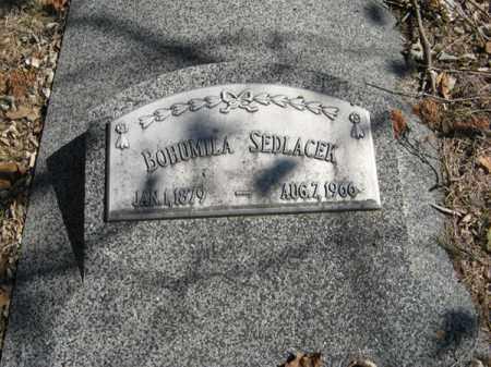 SEDLACEK, BOHUMILA - Dodge County, Nebraska   BOHUMILA SEDLACEK - Nebraska Gravestone Photos