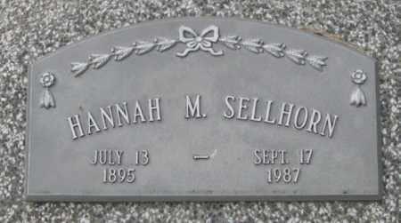 SELLHORN, HANNAH M. (CLOSE UP) - Dodge County, Nebraska | HANNAH M. (CLOSE UP) SELLHORN - Nebraska Gravestone Photos