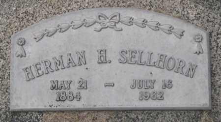 SELLHORN, HERMAN H. (CLOSE UP) - Dodge County, Nebraska   HERMAN H. (CLOSE UP) SELLHORN - Nebraska Gravestone Photos