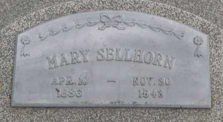 SELLHORN, MARY (CLOSE UP) - Dodge County, Nebraska | MARY (CLOSE UP) SELLHORN - Nebraska Gravestone Photos