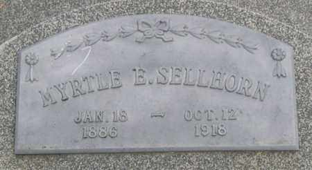 SELLHORN, MYRTLE E. (CLOSE UP) - Dodge County, Nebraska | MYRTLE E. (CLOSE UP) SELLHORN - Nebraska Gravestone Photos