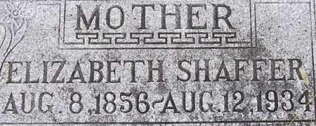 SHAFFER, ELIZABETH - Dodge County, Nebraska   ELIZABETH SHAFFER - Nebraska Gravestone Photos