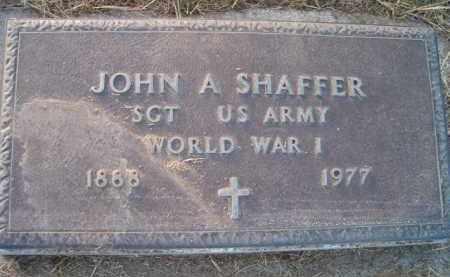 SHAFFER, JOHN A (MILITARY MARKER) - Dodge County, Nebraska | JOHN A (MILITARY MARKER) SHAFFER - Nebraska Gravestone Photos