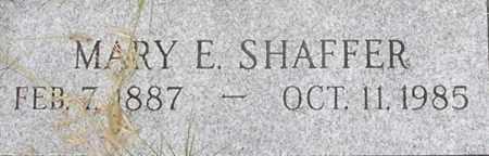 SHAFFER, MARY - Dodge County, Nebraska | MARY SHAFFER - Nebraska Gravestone Photos
