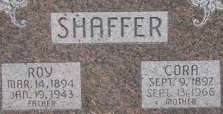 SHAFFER, CORA - Dodge County, Nebraska | CORA SHAFFER - Nebraska Gravestone Photos