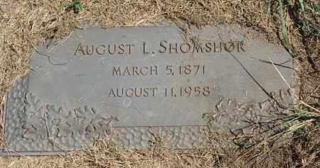 SHOMSHOR, AUGUST L. - Dodge County, Nebraska | AUGUST L. SHOMSHOR - Nebraska Gravestone Photos