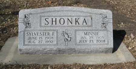 SHONKA, MINNIE - Dodge County, Nebraska | MINNIE SHONKA - Nebraska Gravestone Photos