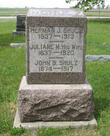 SHULZ, HERMAN J. - Dodge County, Nebraska | HERMAN J. SHULZ - Nebraska Gravestone Photos