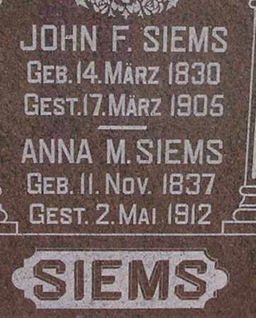 SIEMS, JOHN - Dodge County, Nebraska | JOHN SIEMS - Nebraska Gravestone Photos