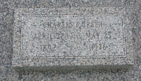 SPATH, CHARLES F. - Dodge County, Nebraska   CHARLES F. SPATH - Nebraska Gravestone Photos