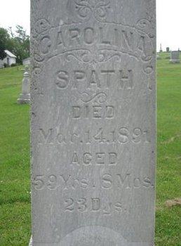 SPATH, CAROLINA (CLOSE UP) - Dodge County, Nebraska | CAROLINA (CLOSE UP) SPATH - Nebraska Gravestone Photos